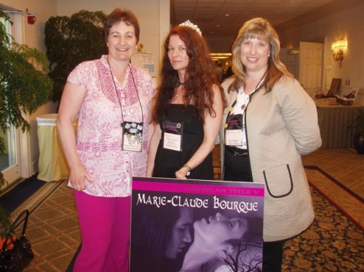 AT V winner Marie-Claude Borque (center) with previous winners Helen Scott Taylor and Gerri Russell