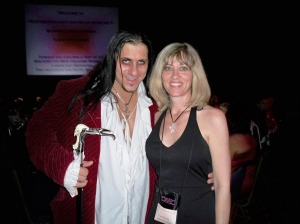 Franco D'Angelo and Lisa at the vampire ball