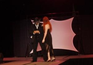Franco D'Angelo play's Lisa Cooke's gambler hero Dyer Straits.