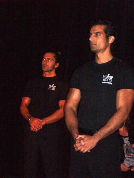 Konstantinos and Stefan, along with all the Mr. Romance contestants, helped escort award winners on and off the stage